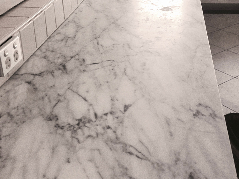 The Marble Man Marble Benchtop Polishing Before