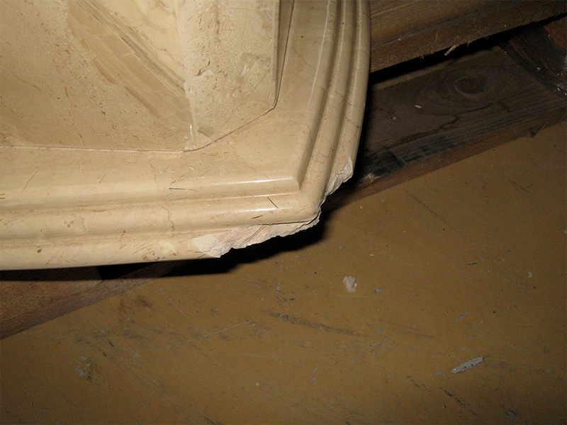 Marble Chip Repair Before