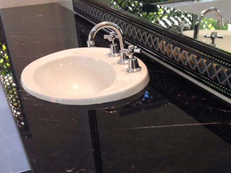 Marble Vanity Polishing and Sealing After
