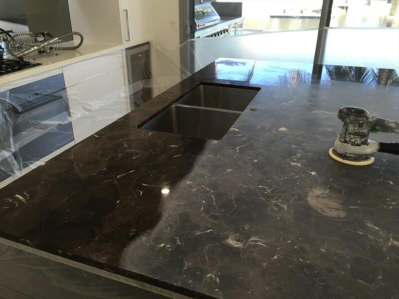 Marble Stone Benchtop Polishing