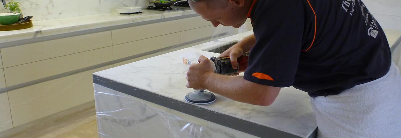 Stone Benchtop Polishing Marble Granite Travertine Caesarstone