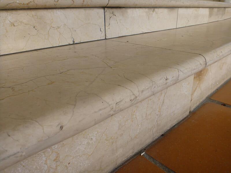 Marble Step Crack Repair After