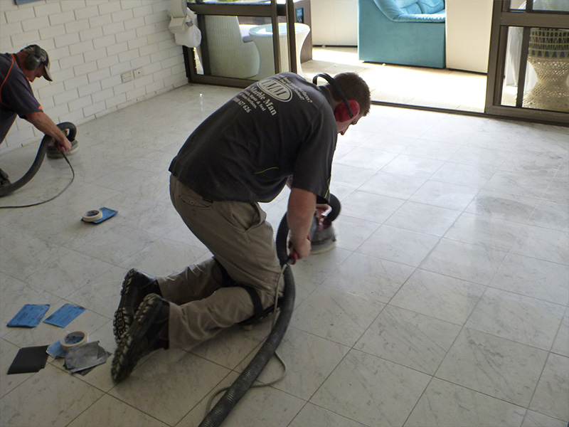 Marble Floor Polish Before