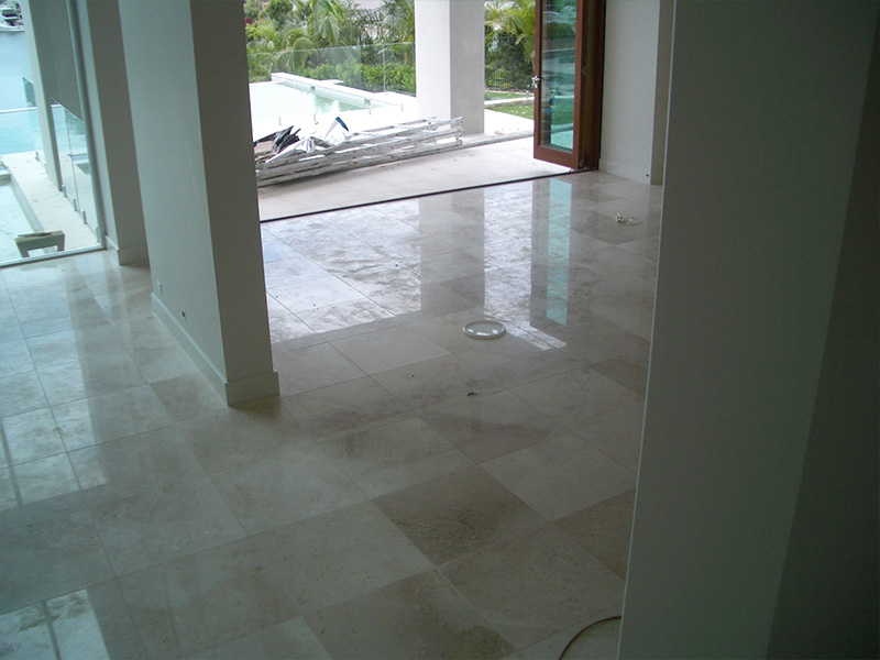 Stone Floor Polishing Marble Before