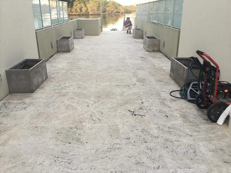 Stone Polishing Travertine Outdoor