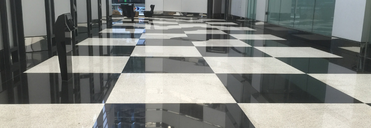 Commercial Stone Restoration Granite Floor After Polishing