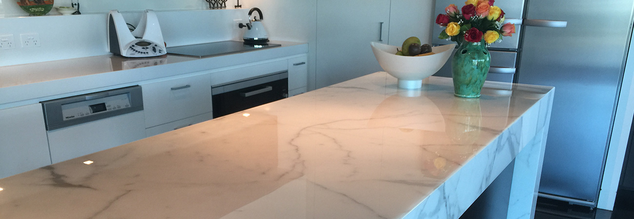 High Gloss Polished Marble BBenchtop