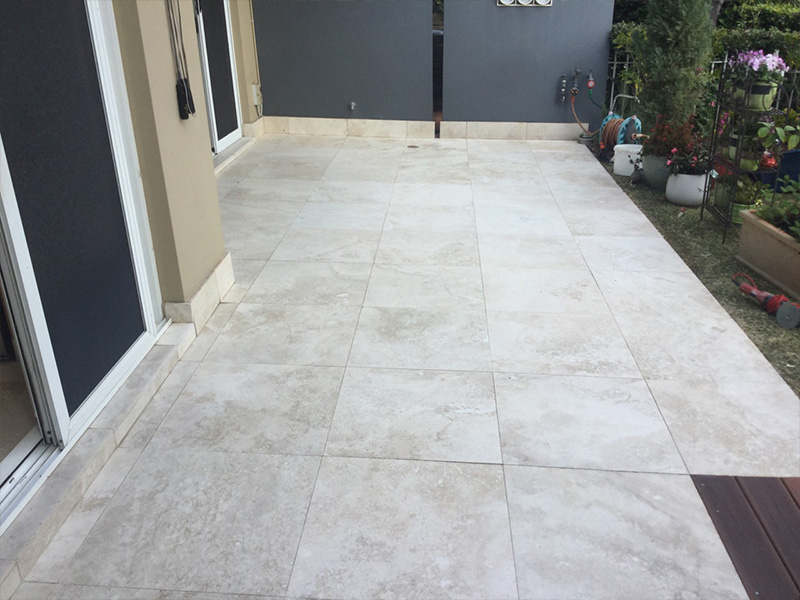 Travertine Honing After