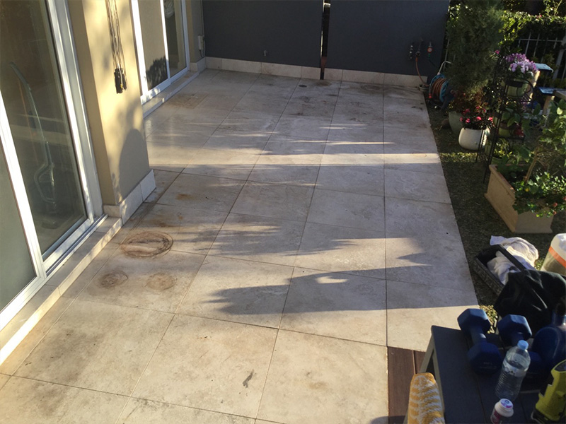 Travertine Honing Before