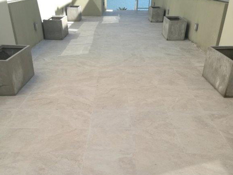 Travertine Honing and Sealing After