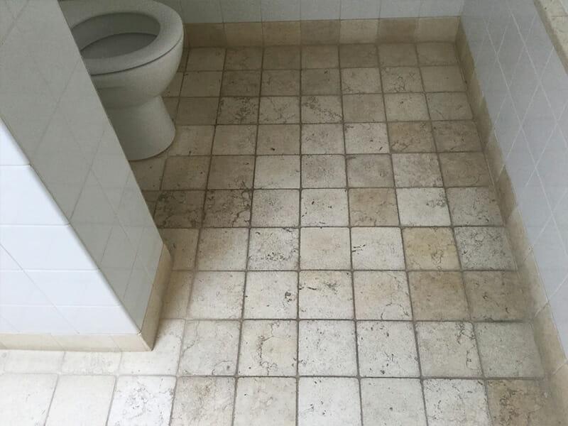 Travertine Floor Clean Before