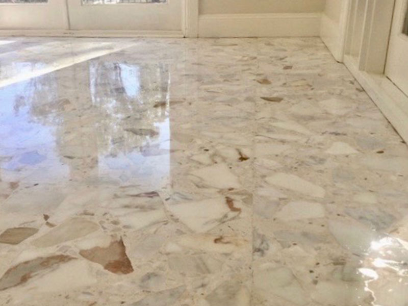 Stone Floor Polishing Marble After