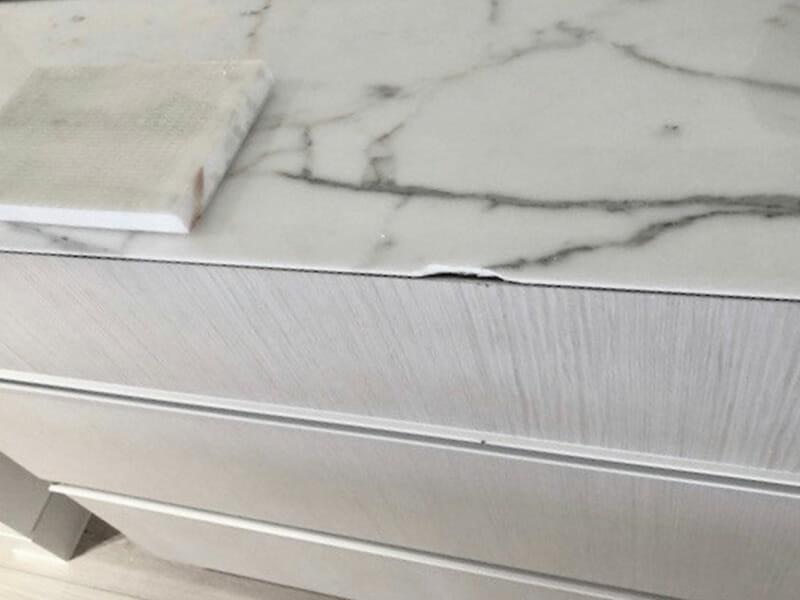 Stone Repairs Marble Chip Before