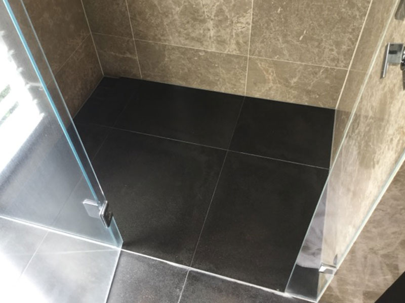 Stone Shower Sealing Basalt Floor After