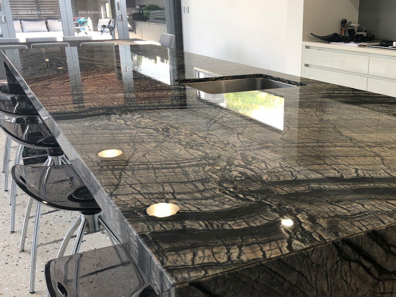 Tuffskin protective film on marble table AFTER