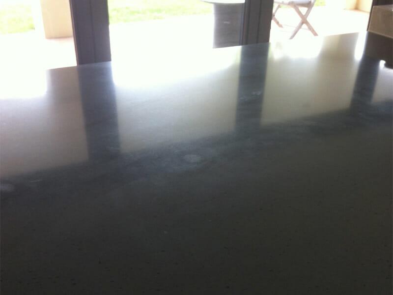 Silestone benchtop dull spot polishing BEFORE