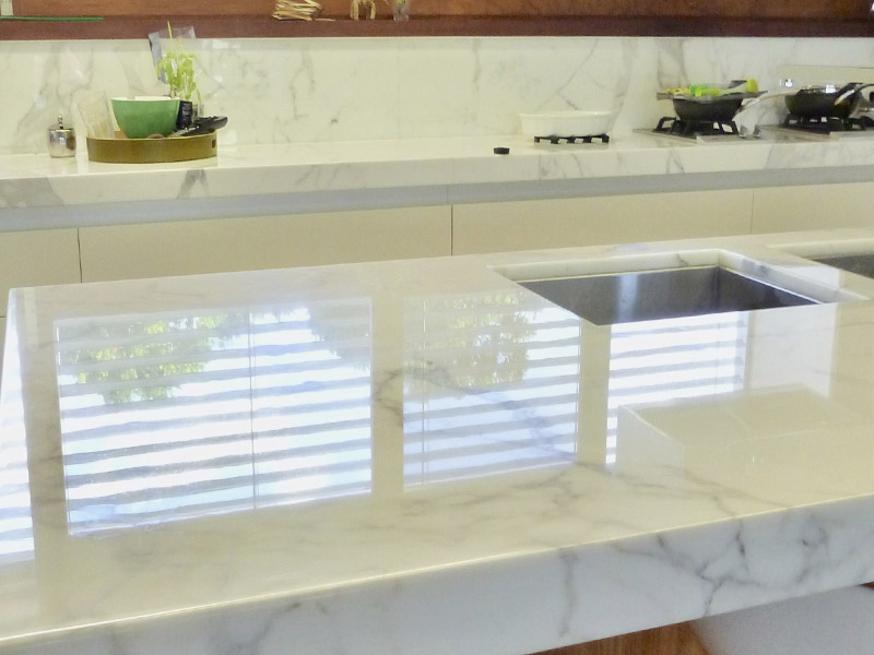 Marble Benchtop Polishing After