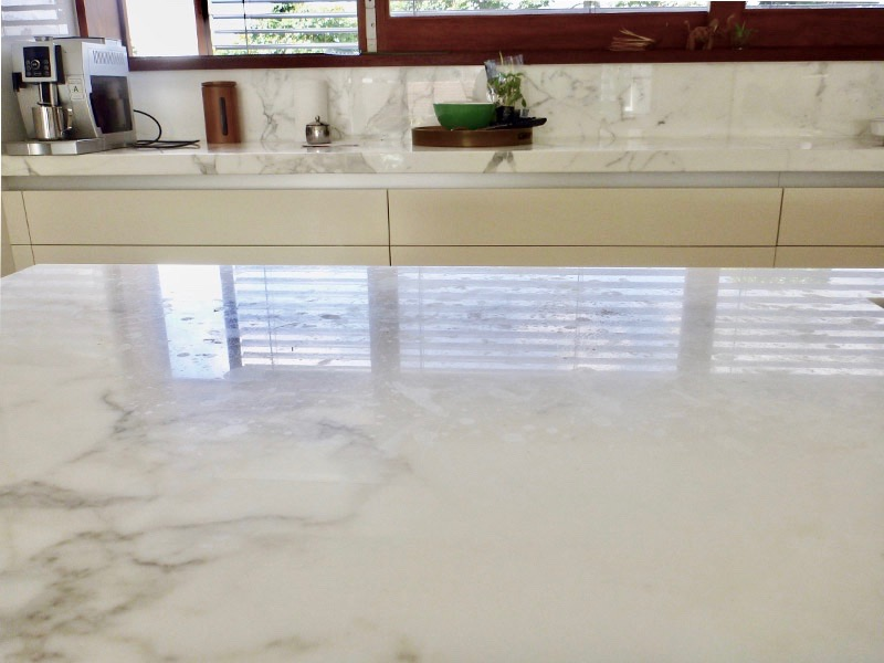Marble Benchtop Polishing Before