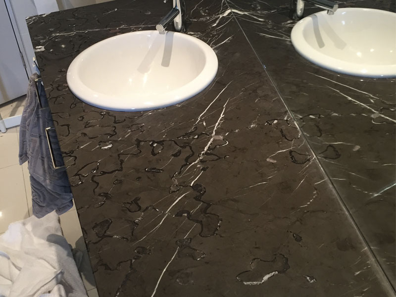 Marble Vanity Polishing After