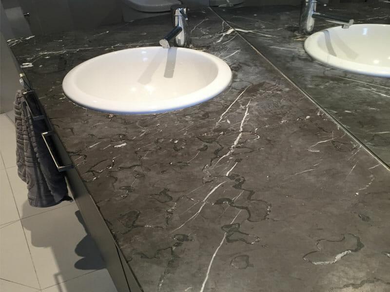 Marble Vanity Polishing Before