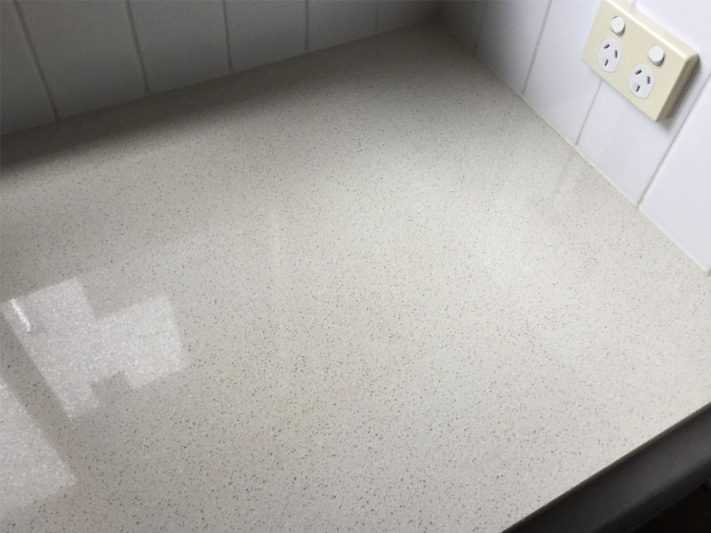 Caesarstone benchtop stain polishing AFTER