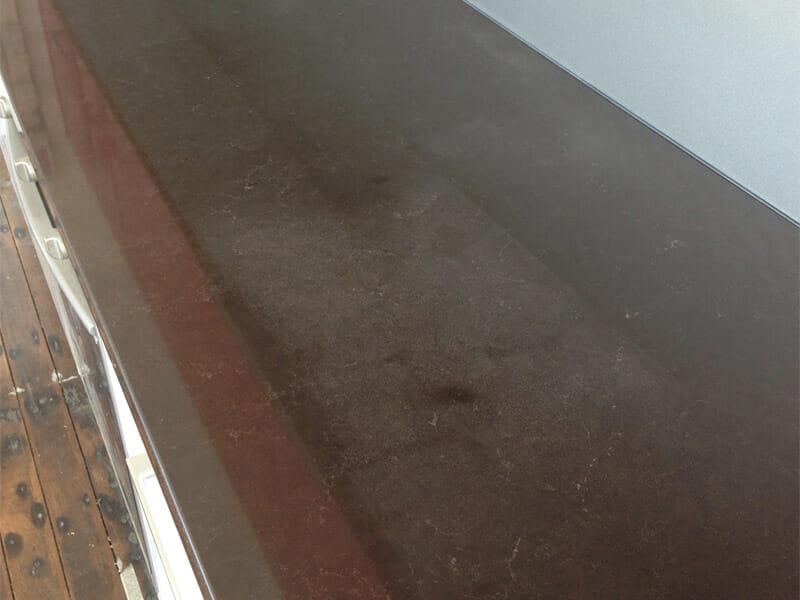 Essastone benchtop bleach polishing BEFORE