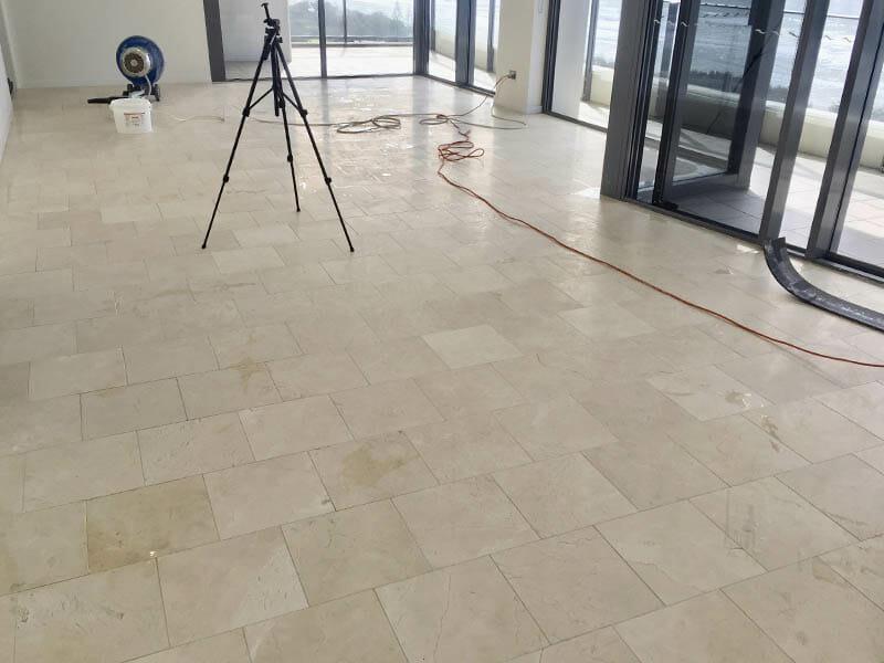 Marble floor polishing BEFORE