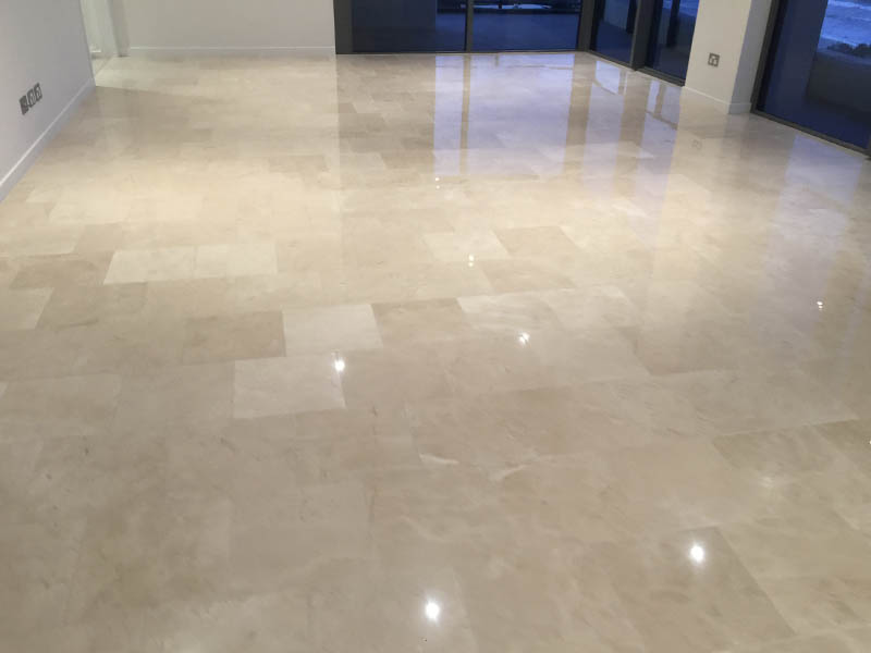 Marble floor polishing AFTER