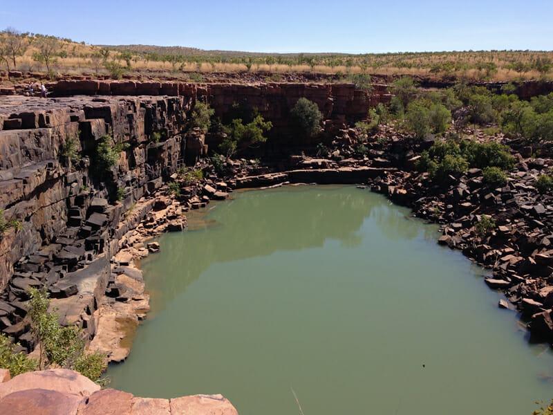 Stone quarry in Australia