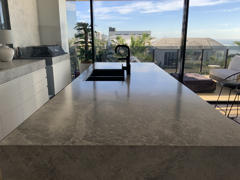 Tundra grey marble TuffSkin sealing AFTER